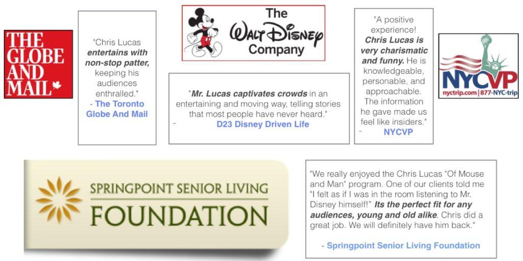 2019 Tour Dates for Top Disney and Christopher Lucas | Top Disney